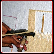 Handtufted Weaving Close view